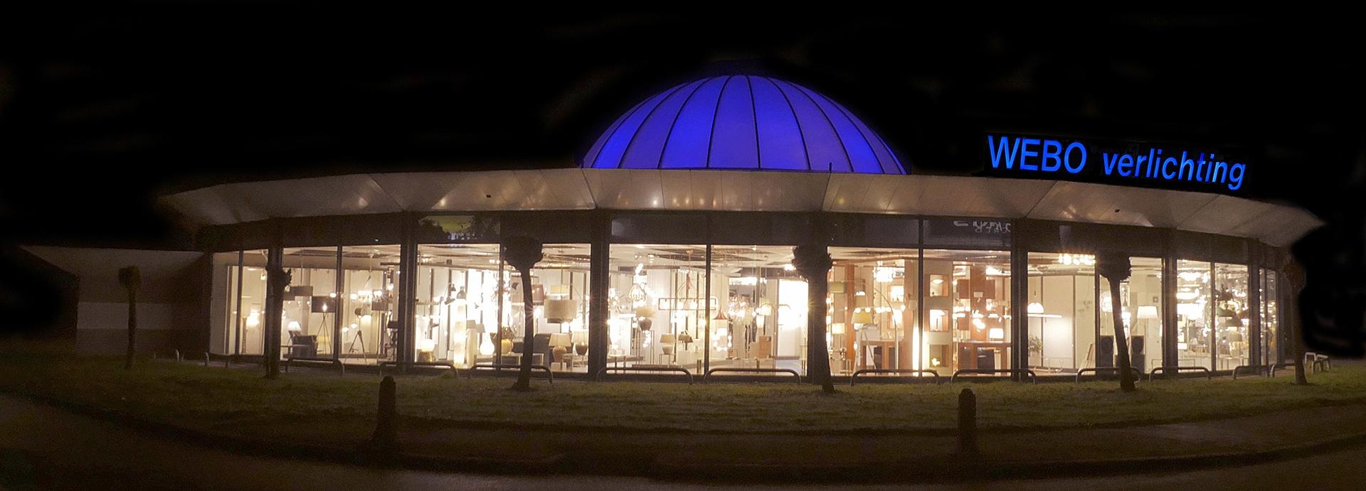 Webo Verlichting, de grootste verlichtingszaak van Nederland. Duizende vierkante meter lampen showroom met alle stijlen en smaken verlichtingsarmaturen. De grootste verlichtingsshowroom van Nederland.