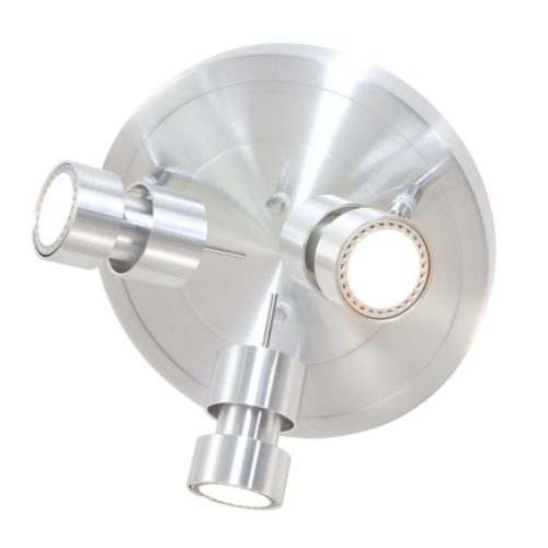 Plafondlamp- plafonnier- 3-lichts Spot LED -6619st- STEINHAUER - 7905ST - Plafondlamp- Spots- Steinhauer- Natasja LED- Modern- Staal  Staal- Metaal