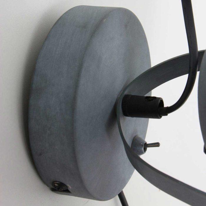 1-lichts spot MEXLITE - 1311GR - industrielamp - industriële wandlamp - plafondlamp - landelijk - industrieel - Mexlite