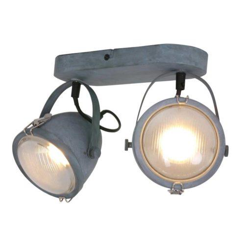 Industriële plafondlamp 2-lichts spot MEXLITE - 1312GR - industrielamp - industriële plafondlamp - plafondspots - plafondlamp - landelijk - industrieel - Mexlite