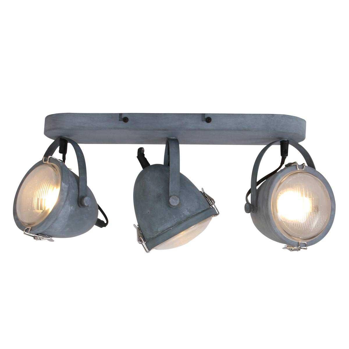 Industriële plafondlamp 3-lichts spot MEXLITE - 1314GR - industrie lamp - industriele plafondlamp - landelijk - industrieel - Mexlite
