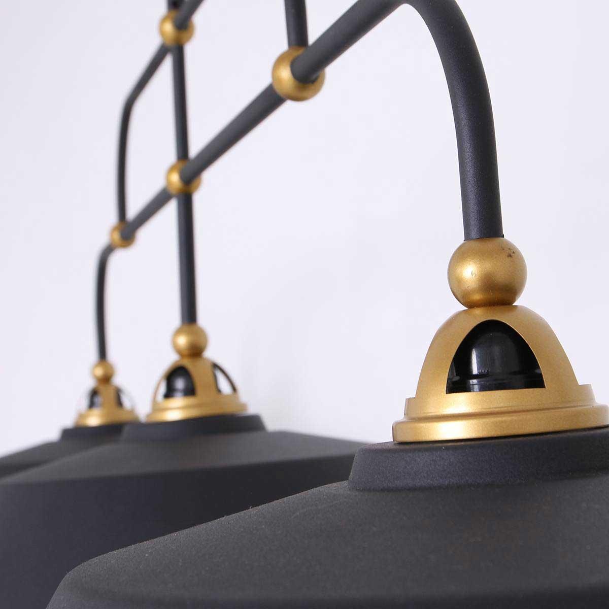 Hanglamp 3-lichts metaal MEXLITE - 1319ZW - hanglamp- industrieel- Mexlite