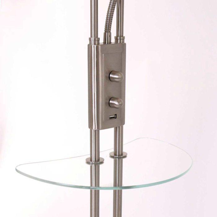 Vloerlamp 2-lichts LED MEXLITE - 1328ST - vloerlamp- modern- modern klassiek- Mexlite