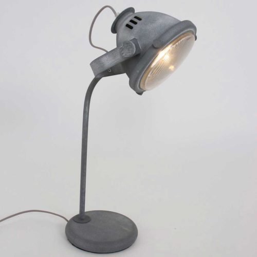 Tafellamp 1-lichts beton MEXLITE - 1333GR - Tafellamp- Mexlite- Mexlite- Industrieel - Trendy- Grijs  Betongrijs met whitewash- Metaal Glas