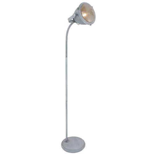Industriële vloerlamp 1-lichts beton MEXLITE - 1335GR - Vloerlamp - Mexlite - Industrieel - Trendy - Grijs  Betongrijs met whitewash - Metaal Glas