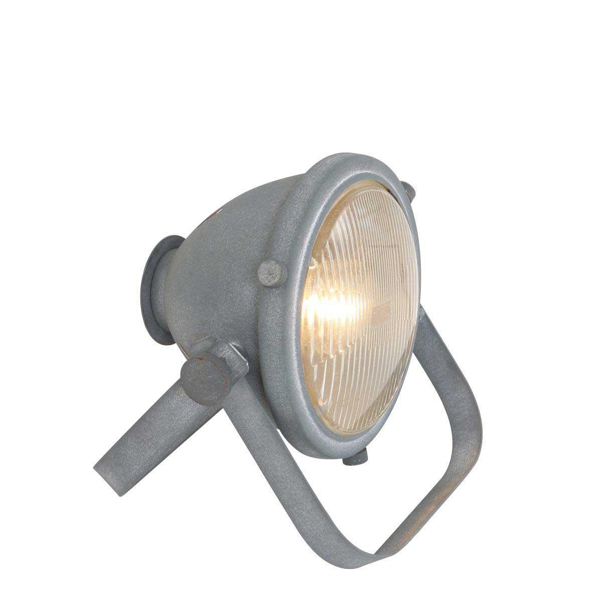 Industriële tafellamp 1-lichts beton MEXLITE - 1336GR - Tafellamp- Mexlite- Mexlite- Industrieel - Trendy- Grijs  Betongrijs met whitewash- Metaal