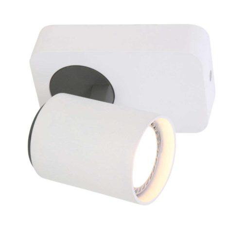 Opbouwspot voor plafond en wand. Spot 1-lichts gu10 STEINHAUER - 1359W - Plafondspot - Wandspot - Opbouwspot - Spots- Mexlite - Modern - Design - Wit Zwart - Metaal