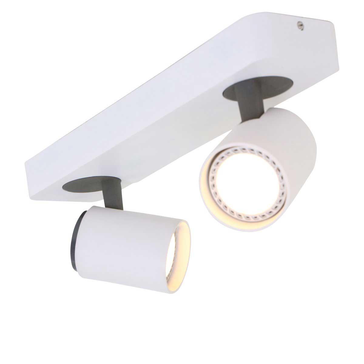 Spot 2-lichts gu10 MEXLITE - 1360W - Plafondlamp- Spots- Mexlite- Mexlite- Modern - Design- Wit Zwart - Metaal