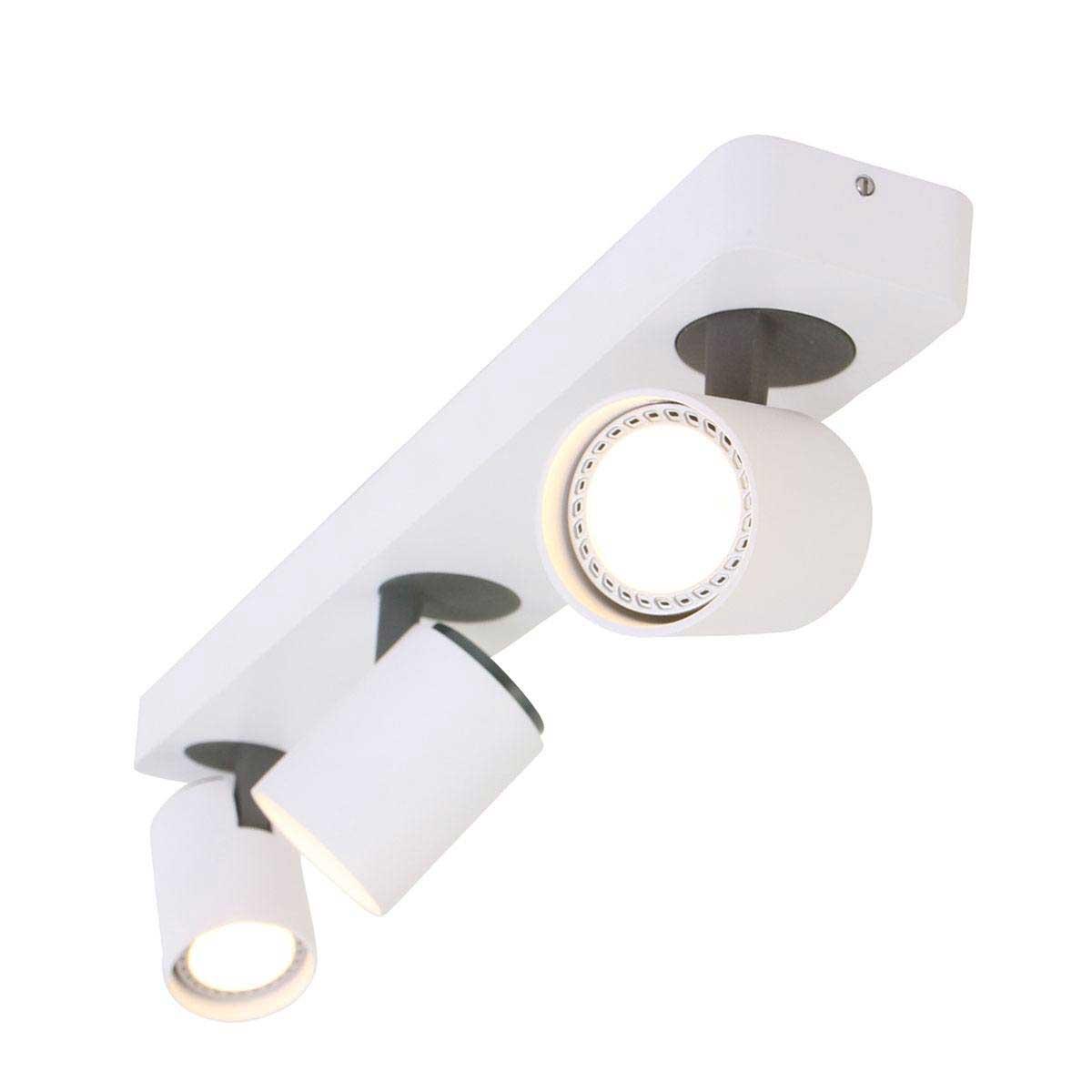 Spot 3-lichts gu10 MEXLITE - 1361W - Plafondlamp- Spots- Mexlite- Mexlite- Modern - Design- Wit Zwart - Metaal