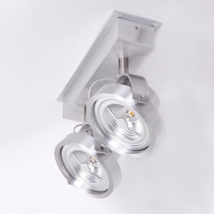 LED MEXLITE - 1451ST - Spots - Plafondlamp met 2 spots - Industriele spot - Mexlite - Industrieel - Stoer- Staal  - Metaal
