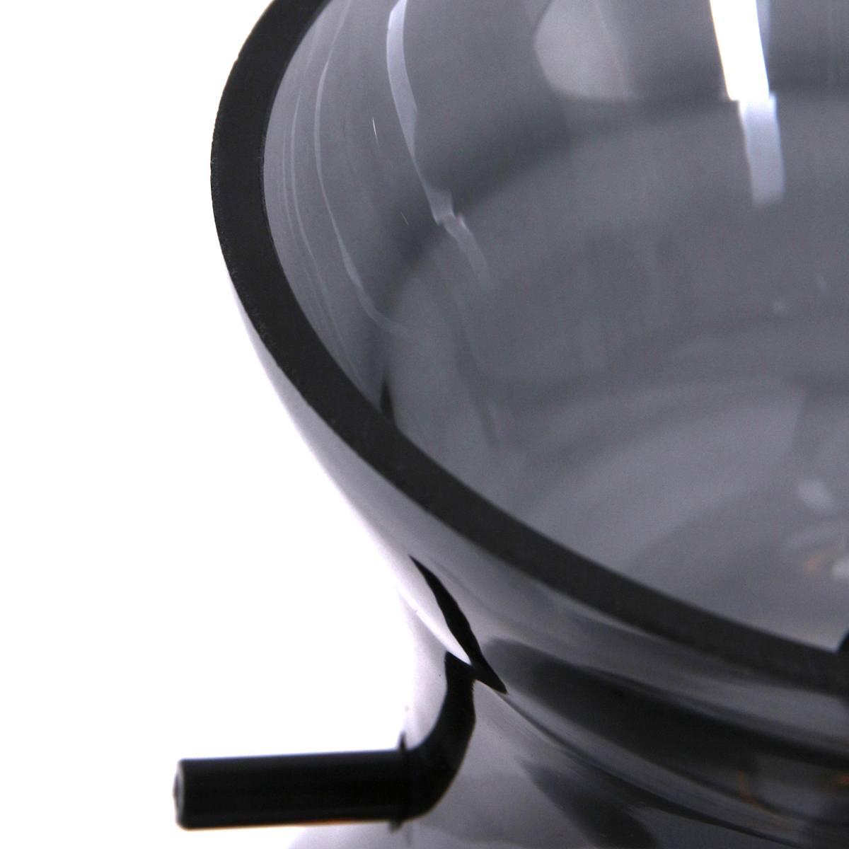 Hanglamp 1-lichts E27 60W grey glass ANNE LIGHTING - 1454ZW - Hanglamp- Anne Lighting- Chalise day & night- Retro - Landelijk- Zwart  - Glas Metaal