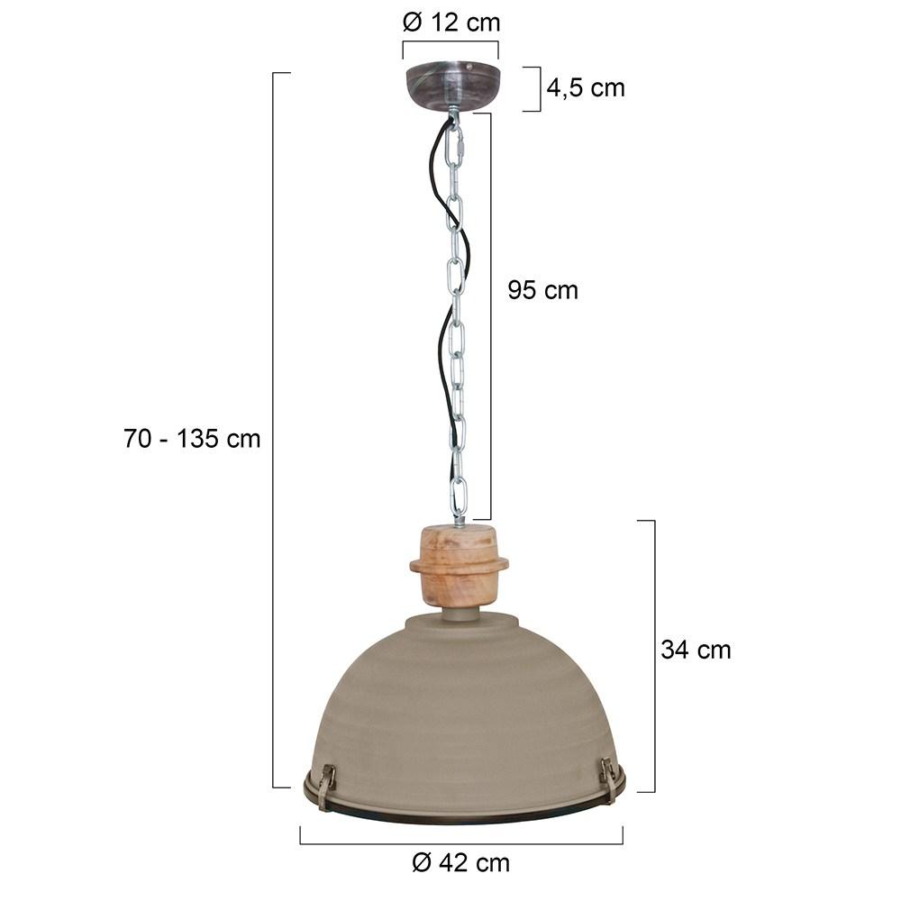 Industriele hanglamp 1-lichts