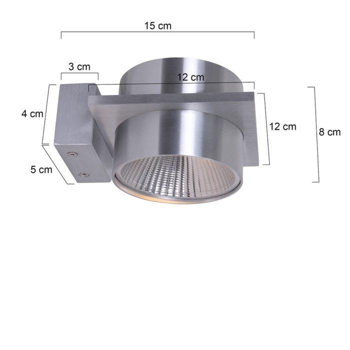Wandlamp 1-lichts G9 5W LED STEINHAUER - 1462ST - Wandlamp- Steinhauer- Liberstas LED- Modern - Design- Staal  Staal- Metaal