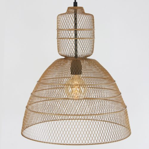 Hanglamp 1-lichts industrial wire  ANNE LIGHTING - 1568GO - Hanglamp- Anne Lighting- Yogyakarta D'or- Trendy- Goud  -