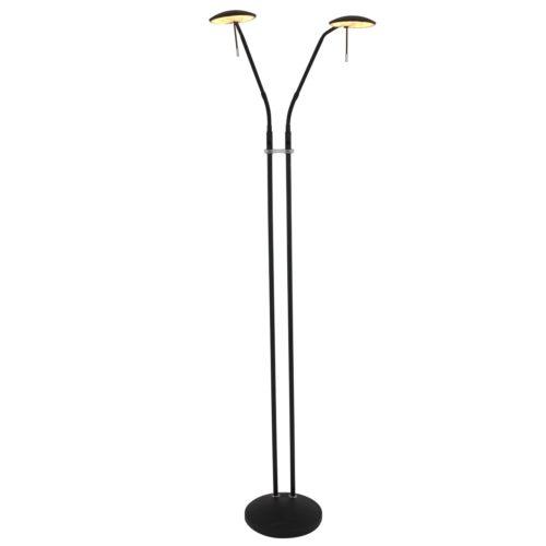 Vloerlamp 2-lichts Zenith STEINHAUER - 1569ZW - Vloerlamp- Steinhauer- Zenith LED- Design- Zwart  -
