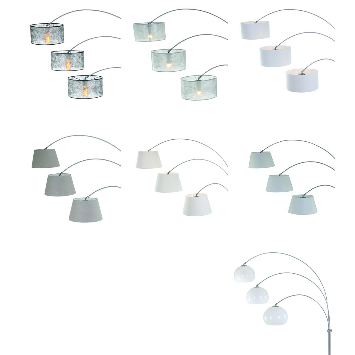 Vloerlamp 3-lichts bogen STEINHAUER - 1570ST - Vloerlamp- Steinhauer- Gramineus- Modern- Staal  staal geborsteld-