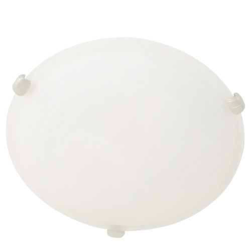 Plafondlamp- plafonnier- glas STEINHAUER - 2361ST - Plafondlamp- Steinhauer- Ceiling and wall- Modern - Minimalistisch design- Wit Staal Wit glas met stalen details- Glas