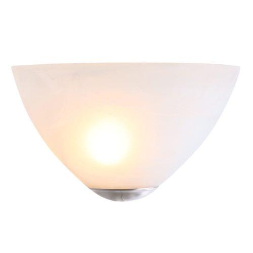 Wandlamp Glas STEINHAUER - 2616ST - Wandlamp- Steinhauer- Burgundy- Klassiek - Minimalistisch design- Staal Wit - Metaal Glas