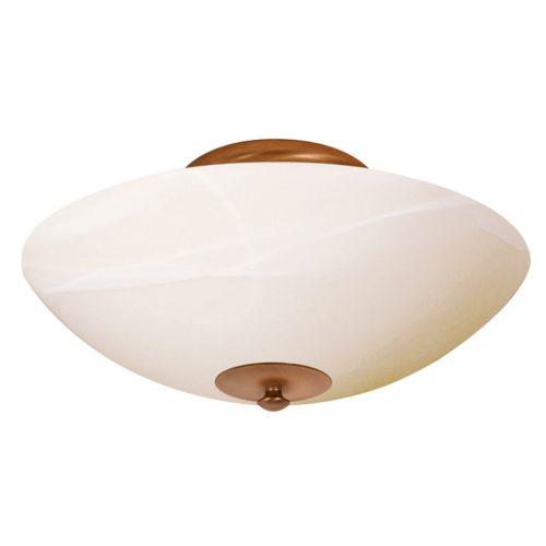 Plafondlamp- plafonnier- 2-lichts middel 40cm STEINHAUER - 3304BR - Plafondlamp- Steinhauer- Burgundy- Klassiek- Brons Creme - Metaal Glas