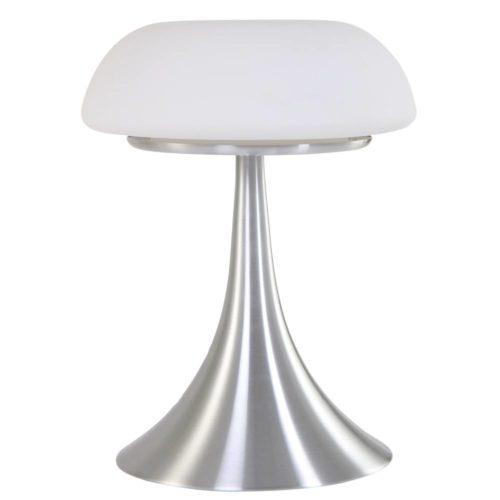 Tafellamp 1-lichts Glas STEINHAUER - 5557ST - Tafellamp- Steinhauer- Ancilla- Design- Wit Staal - Metaal Glas