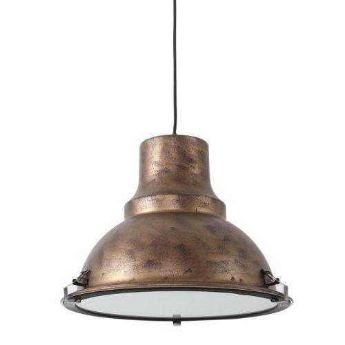 Industriele hanglamp 1-lichts Metaal STEINHAUER - 5798B - Industrie lamp - Industrie Hanglamp - Steinhauer - Parade - Industrieel - Trendy- Bruin  - Metaal Glas