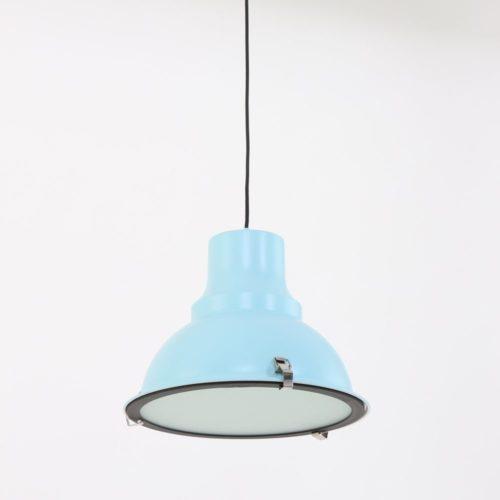 Industriele hanglamp 1-lichts Metaal STEINHAUER - 5798BL - Industrie lamp - Industrie Hanglamp - Steinhauer - Parade - Industrieel - Trendy- Blauw  0- Metaal Glas