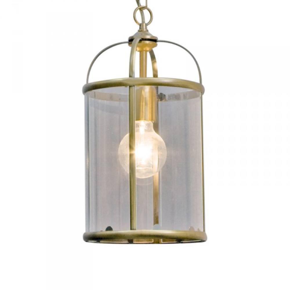Hanglamp 1-lichts Glas STEINHAUER - 5970BR - Hanglamp- Steinhauer- Pimpernel- Klassiek- Brons Transparant - Metaal Glas