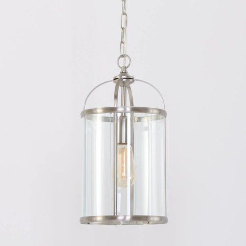 Hanglamp 1-lichts Glas STEINHAUER - 5970ST - Hanglamp- Steinhauer- Pimpernel- Modern- Staal Transparant - Metaal Glas