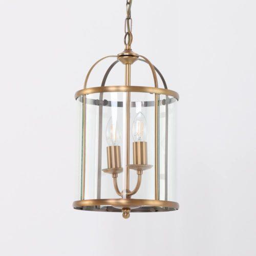 Hanglamp 2-lichts Glas STEINHAUER - 5971BR - Hanglamp- Steinhauer- Pimpernel- Klassiek- Brons Transparant - Metaal Glas