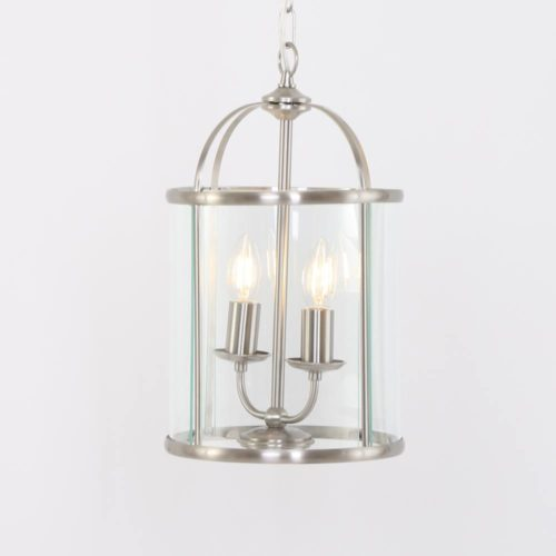 Hanglamp 2-lichts Glas STEINHAUER - 5971ST - Hanglamp- Steinhauer- Pimpernel- Klassiek- Staal Transparant - Metaal Glas