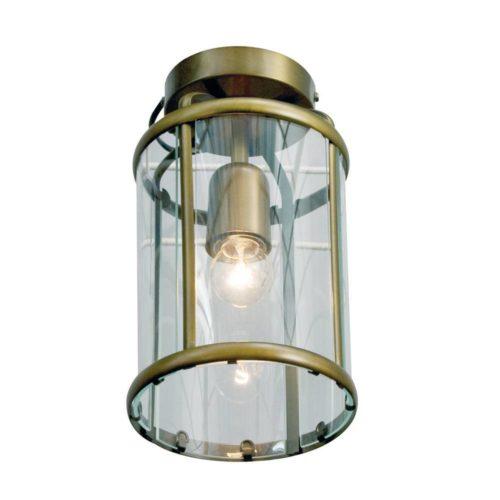 Plafondlamp- plafonnier- Glas STEINHAUER - 5973BR - Plafondlamp- Steinhauer- Pimpernel- Klassiek- Brons Transparant - Metaal Glas