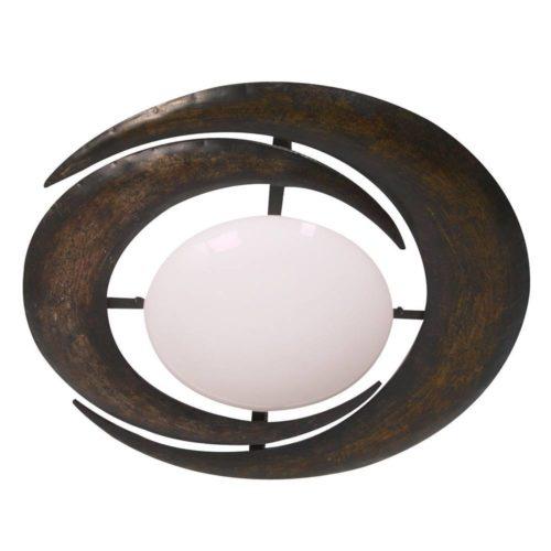 Plafondlamp- plafonnier- 2-lichts Manen STEINHAUER - 6183B - Plafondlamp- Steinhauer- Ceiling and wall- Klassiek- Wit Bruin - Metaal Glas