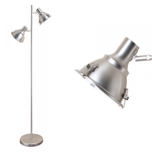 Industriële vloerlamp 2-lichts Reflector STEINHAUER - 6521ST - Vloerlamp - Industriele vloerlamp - Steinhauer - Parade - Industrieel - Modern- Staal - Metaal