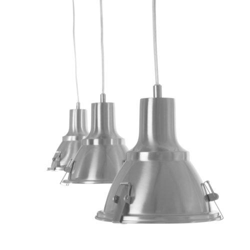 Industriele hanglamp 3-lichts Reflector STEINHAUER - 6526ST - Industrie lamp - Industrie Hanglamp - Steinhauer - Parade - Industrieel - Modern- Staal  - Metaal