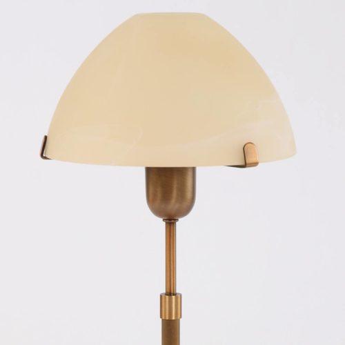 Tafellamp 1-lichts Glas STEINHAUER - 6685BR - Tafellamp- Steinhauer- Burgundy- Klassiek- Brons Creme - Metaal Glas