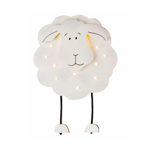 Kinderkamer wandlamp 1-lichts + 10 lichts Schaap STEINHAUER - 6858W - Wandlamp- Steinhauer- Kids- Speels- Wit  Wit schaapje- Hout