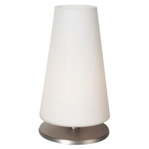 Tafellamp 1-lichts Glas STEINHAUER - 6934ST - Tafellamp- Steinhauer- Ancilla- Klassiek - Modern- Staal Wit - Metaal Glas