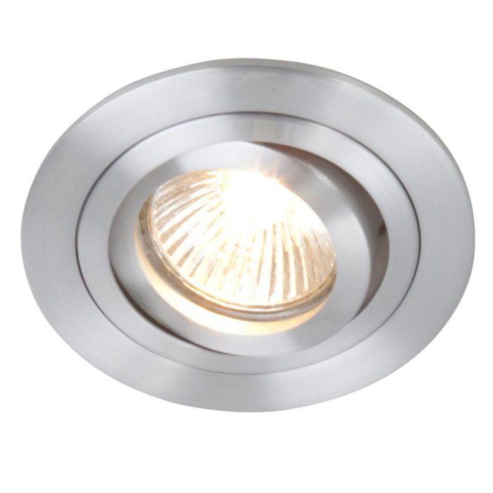 Inbouwspot 1-lichts Alu STEINHAUER - 7304ST - Spots- Plafondlamp- Steinhauer- Vespo- Modern - Minimalistisch design- Staal  - Metaal
