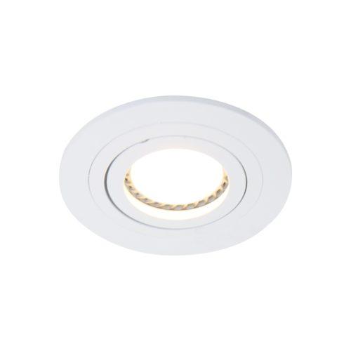 Inbouwspot 1-lichts Alu STEINHAUER - 7304W - Spots- Steinhauer- Round- Modern - Minimalistisch design- Wit  Wit- Metaal