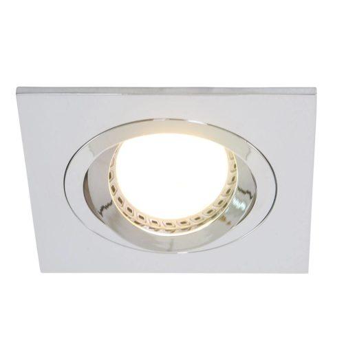 Inbouwspot 1-lichts Alu STEINHAUER - 7305CH - Spots- Steinhauer- Square- Modern - Minimalistisch design- Chroom  Chroom- Metaal