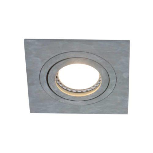 Inbouwspot 1-lichts Alu STEINHAUER - 7305GR - Spots- Steinhauer- Square- Modern - Minimalistisch design- Grijs  Grijs- Metaal