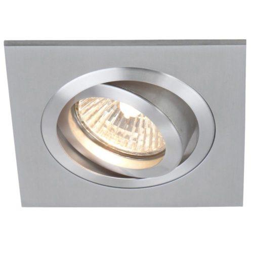 Inbouwspot 1-lichts Alu STEINHAUER - 7305ST - Spots- Plafondlamp- Steinhauer- Vespo- Modern - Minimalistisch design- Staal  - Metaal