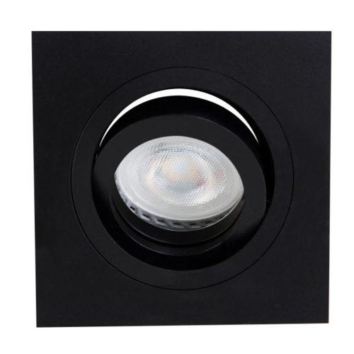 Inbouwspot 1-lichts Alu STEINHAUER - 7305ZW - Spots- Steinhauer- Square- Modern - Minimalistisch design- Zwart  Zwart- Metaal
