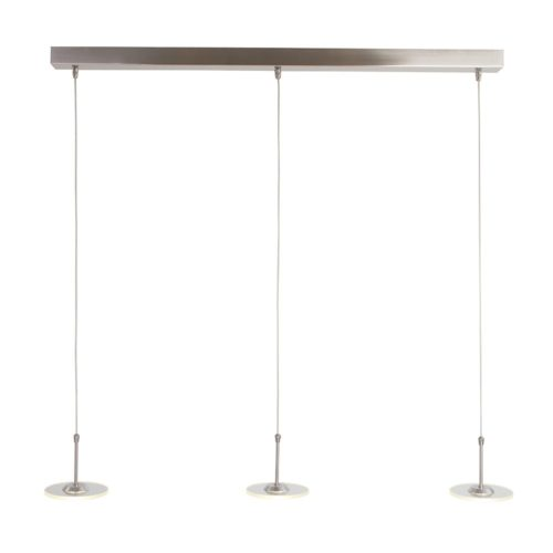 Hanglamp 3-lichts Glas LED STEINHAUER - 7406ST - Hanglamp- Steinhauer- Santander- Modern- Staal Transparant - Metaal Glas