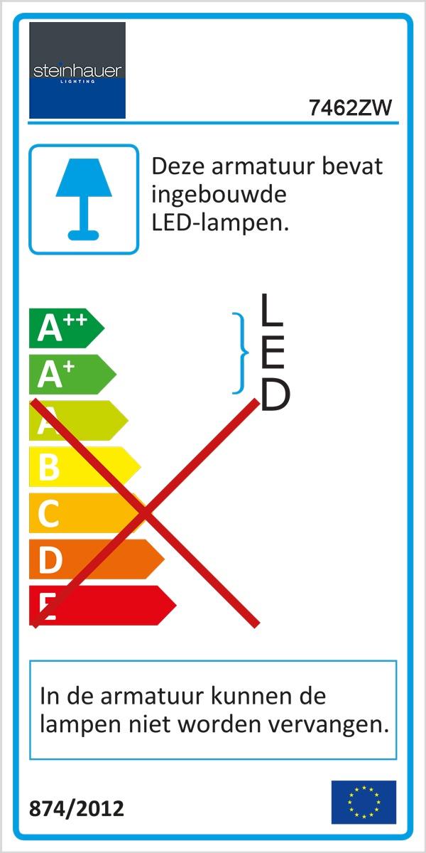 leeslamp LED Alu-strip Verstelbaar STEINHAUER - 7462ZW - Tafellamp- Steinhauer- Serenade LED- Modern- Zwart  Zwarte tafellamp touch- Metaal