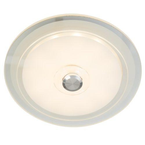 Plafondlamp- plafonnier- LED Dubbel Glas STEINHAUER - 7476W - Plafondlamp- Steinhauer- Ceiling and Wall- Modern - Minimalistisch design- Transparant  - Metaal Glas