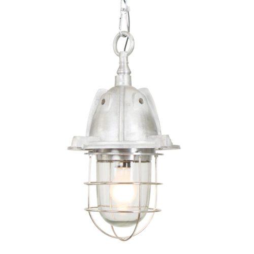 Industriële hanglamp 1-lichts Alu STEINHAUER - 7540ST - Industrie lamp - Industrie Hanglamp - Steinhauer - Tuk - Industrieel - Trendy - Staal - Metaal Glas
