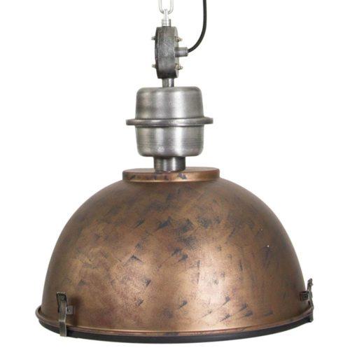 Industriele hanglamp 1-lichts Industrial STEINHAUER - 7586B - Industrie lamp - Industrie Hanglamp - Steinhauer - Bikkel - Industrieel - Trendy - Bruin - Metaal Glas