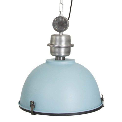 Industriele hanglamp 1-lichts Industrial STEINHAUER - 7586BL - Industrie lamp - Industrie Hanglamp - Steinhauer - Bikkel - Industrieel - Trendy - Blauw - Metaal Glas