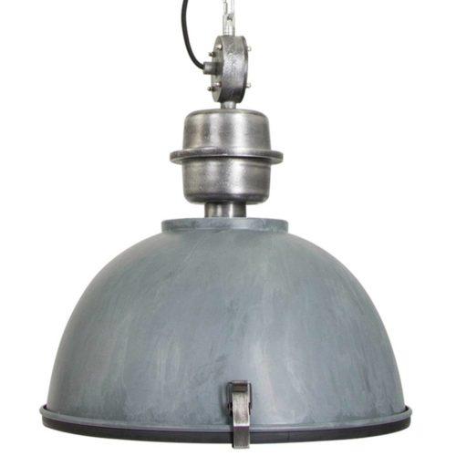 Industriele hanglamp 1-lichts Industrial STEINHAUER - 7586GR - Industrie lamp - Industrie Hanglamp - Steinhauer - Bikkel - Industrieel - Trendy - Grijs - Metaal Glas